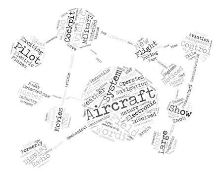 The Versatile Field Of Avionics text background word cloud concept