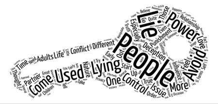 Why People Lie Word Cloud Concept Text Background Ilustrace