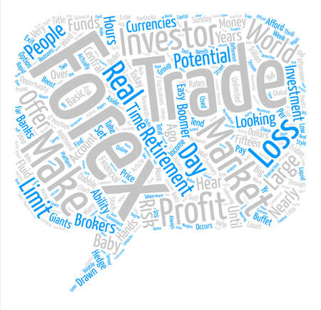 Just Who Trades Forex Currencies Word Cloud Concept Text Background