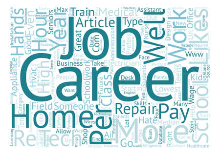 Ten Careers For High School Seniors Who Hate School text background word cloud concept Illustration