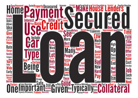 Secured Loans An Overview text background word cloud concept