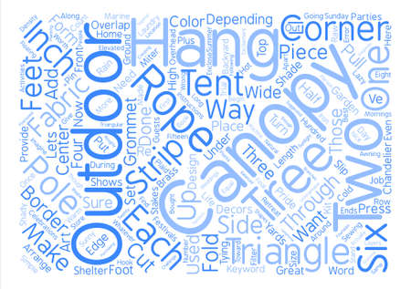 Outdoor Canopy text background word cloud concept