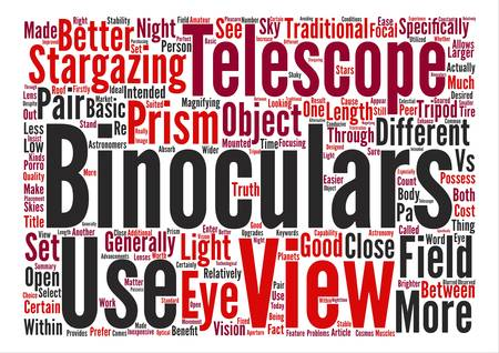 Telescope Or Telescope Binoculars What s The Difference text background word cloud concept