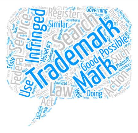 infringement: trademark infringement text background word cloud concept
