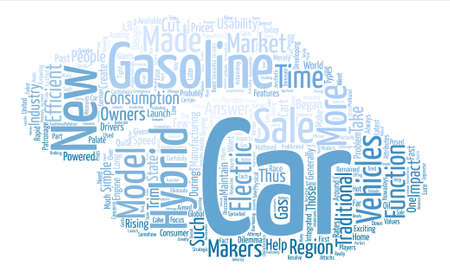 new hybrid cars text background word cloud concept