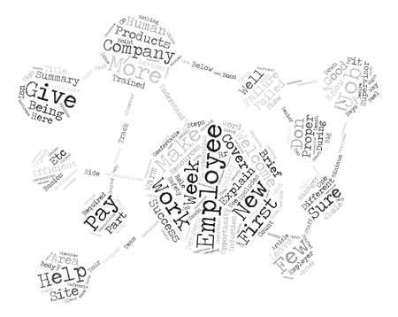 potentially: Steps on how to welcome your new employees text background word cloud concept Illustration
