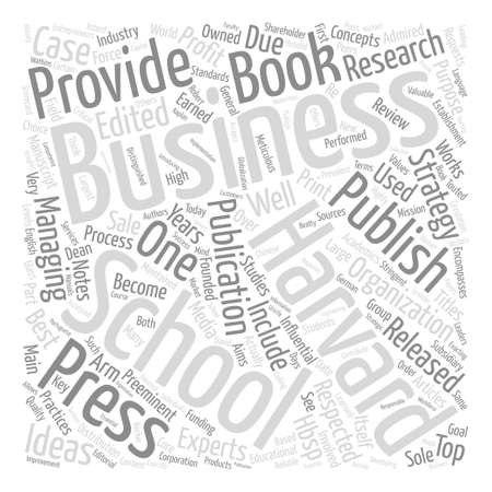 Harvard business school press text background word cloud concept