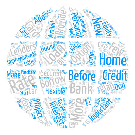 Your Home Improvement Loan Word Cloud Concept Text Background