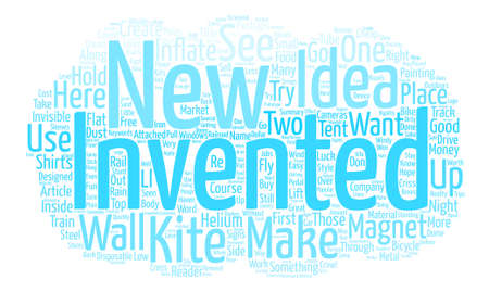 New Inventions I Would Like To See text background word cloud concept 向量圖像