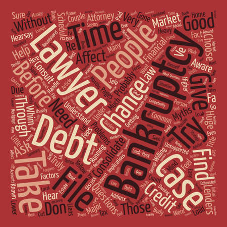 Try To Consolidate Debt Before Bankruptcy Word Cloud Concept Text Background