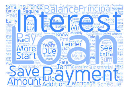 Save Money on Your Mortgage Loan Word Cloud Concept Text Background
