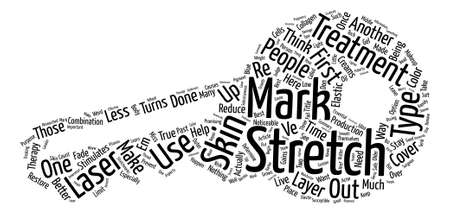Stretch Mark Treatments Which is best for you text background word cloud concept