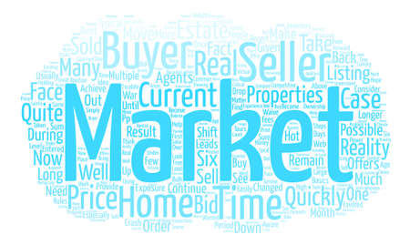 How to Remain Competitive in a Down Market text background word cloud concept Illustration