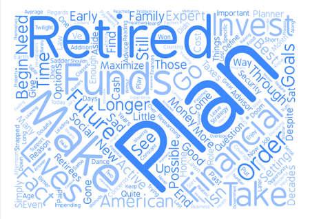 Por qué planear para el concepto de nube de word de fondo de texto de jubilación