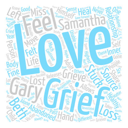 Healthy Grief Unhealthy Grief Word Cloud Concept Text Background Illustration