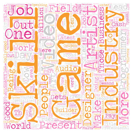 Job Opportunities text background wordcloud concept Illustration