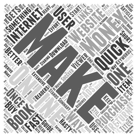 make money fast: How to Make Money Online Fast Word Cloud Concept