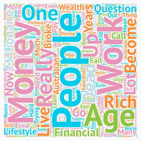 Je vis dans l?un des pays les plus riches du monde, alors pourquoi ne suis-je pas riche en texte fond concept wordcloud Vecteurs