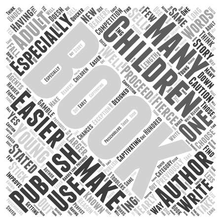 Is It Easier to Publish a Childrens Book Word Cloud Concept