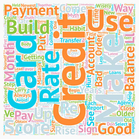 Increase Your Credit Through Credit Cards text background wordcloud concept