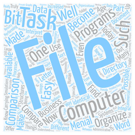 How To Compare File And Directory Systems And Why text background wordcloud concept