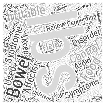 bowel: irritable bowel symdrom Word Cloud Concept