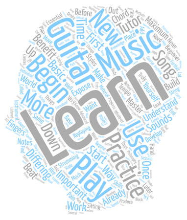 How To Practice Guitar text background wordcloud concept