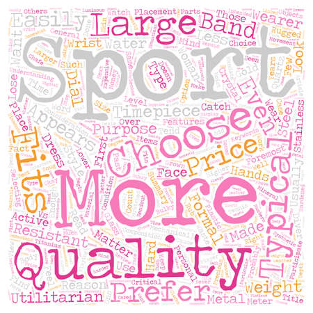 How To Choose The Right Sports Fitness Watch text background wordcloud concept