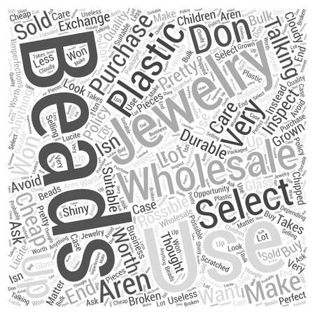 how to select jewelry wholesale beads dlvy nicheblowercom Word Cloud Concept Illustration