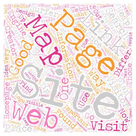 JP sitemap creator text background wordcloud concept