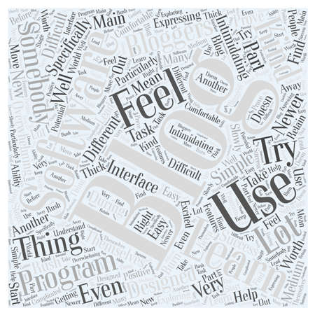 How to learn blogging software Word Cloud Concept