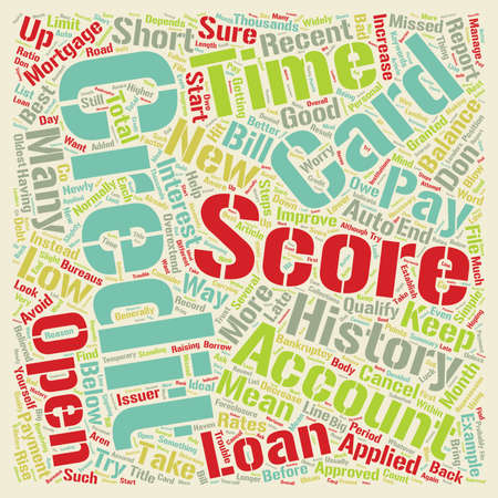 qualify: How to improve a low credit score text background wordcloud concept Illustration