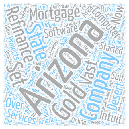 Jump In The Technology Bandwagon With Refinance Mortgage Arizona text background wordcloud concept