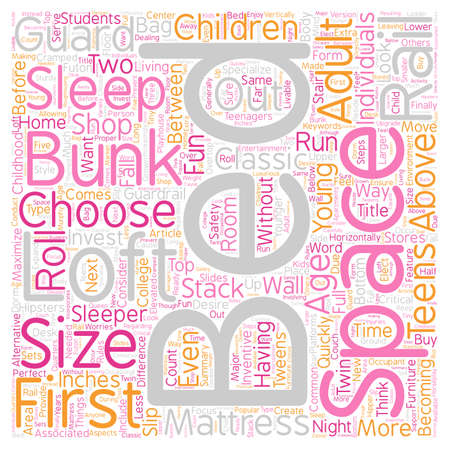 How to buy a loft bed bunk beds text background wordcloud concept Illustration