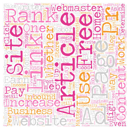How To Increase PR Rank text background wordcloud concept