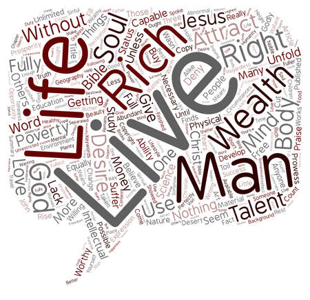Is It God s Will To Be Wealthy text background wordcloud concept