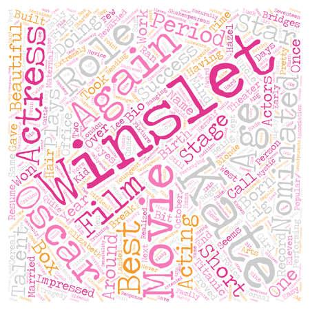 Kate Winslet text background wordcloud concept