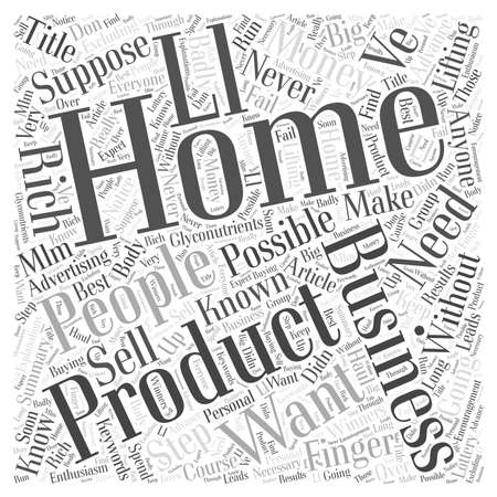 Is Your Home Business Going To Make Money How To Know In Advance Word Cloud Concept 向量圖像