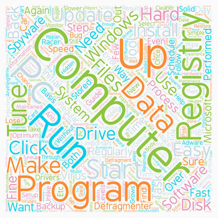 How To Tuneup Your PC text background wordcloud concept