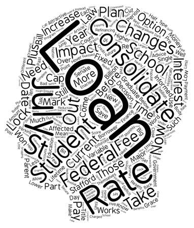make summary: July 1 2006 is D day for Federal Student Loans text background wordcloud concept