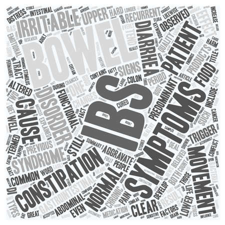 bowel movement: IBS Syndrome Explained text background wordcloud concept Illustration
