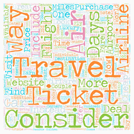 How To Find Cheap Airfare text background wordcloud concept
