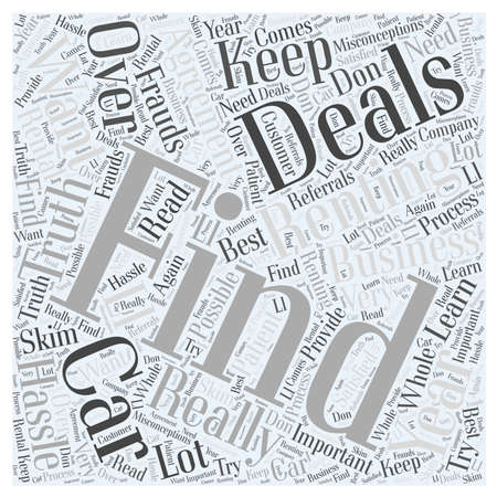 skim: How to find the deals Word Cloud Concept