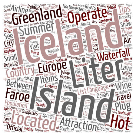 northwestern: Iceland text background wordcloud concept