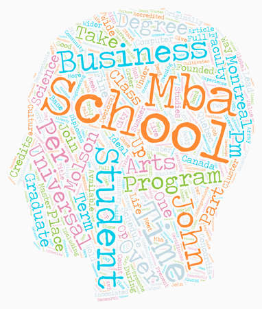 John Molson School Of Business text background wordcloud concept Illustration