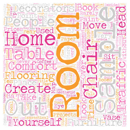 flooring: How To Create A Comfortable Room text background wordcloud concept. Illustration
