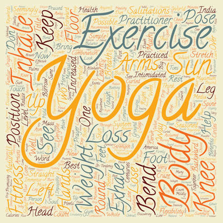 intimidated: How to borrow from Yoga for Weight Loss text background wordcloud concept