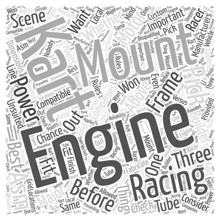 Kart Racing Engines Word Cloud Concept