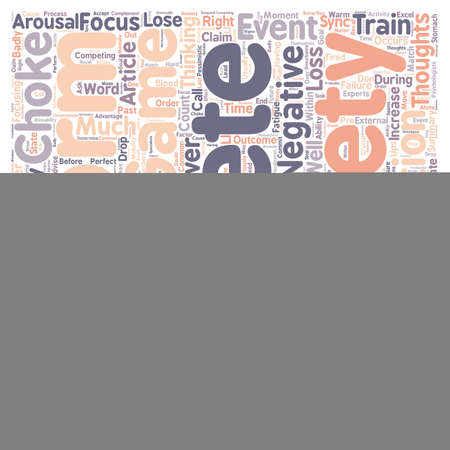 distract: In the zone or out of sync text background wordcloud concept