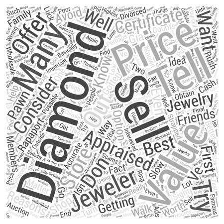 matter: How to sell a diamond Word Cloud Concept